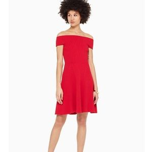 KATE SPADE Red Off The Shoulder Sweater Dress XL